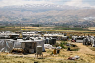 Informal Refugee Settlement in the Bekaa Valley in Lebanon.